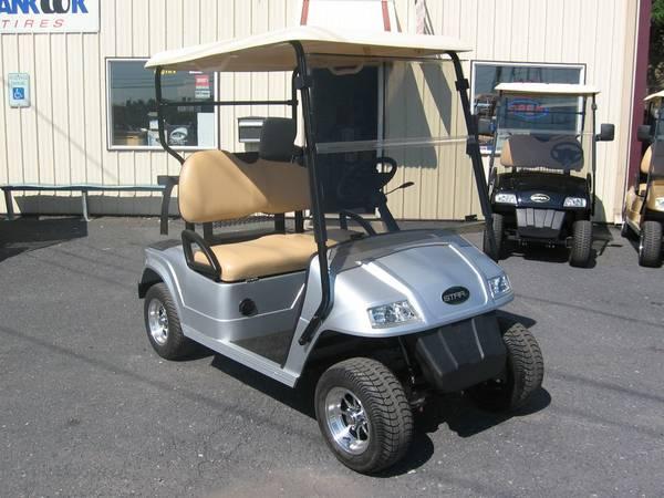 New 2014 Star Ev 36volt Silver 2 Passenger Golf Cart For