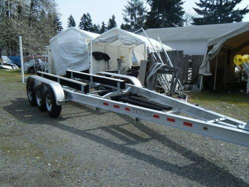 New 2014 Triple Axle Aluminum Boat Trailer 27-33ft 12,600 6-dis