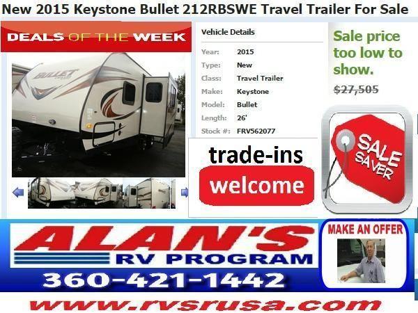 New 2015 Keystone Bullet 212rbswe Travel Trailer For Sale