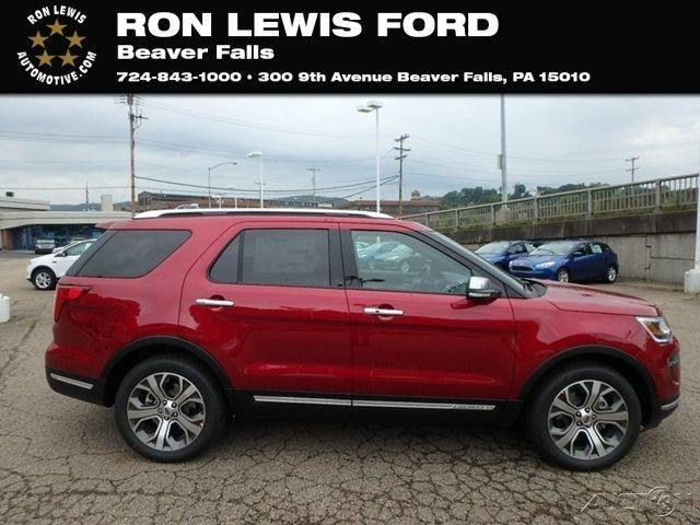 New 2018 Ford Explorer 4WD Platinum Beaver Falls, PA