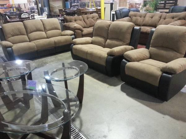 NEW 3PC RECLINING SOFA SET - $999
