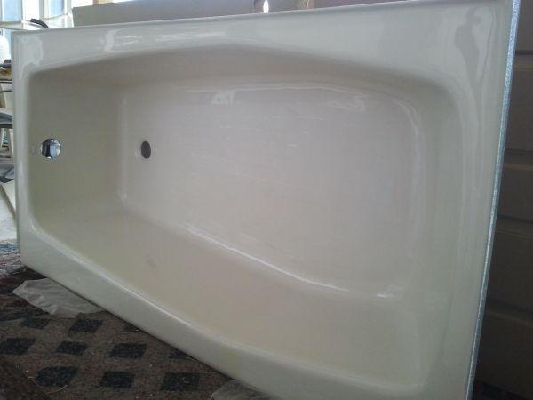 New 5 ft Cast Iron Kohler Bathtub + Vanity Sink and ...