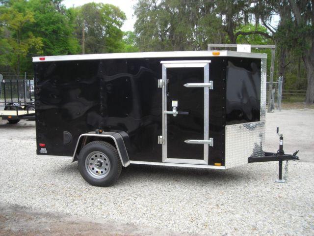 New 5x10 Enclosed Trailer Ramp V Nose Side Door Led Quot S
