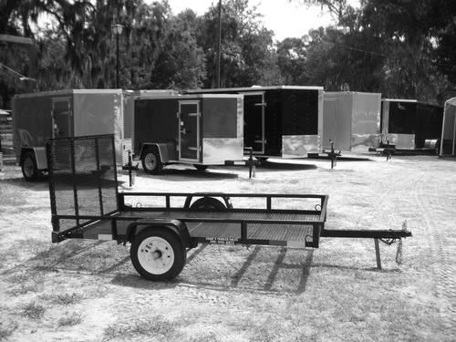 New 5x8 Utility Trailer With Ramp Gate Mesh Floor For
