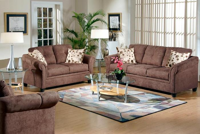 New 6 piece microfiber living room sets made by serta - Microfiber living room furniture sets ...