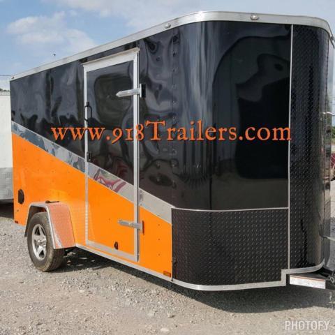 New 6 X 12 Motorcycle Cargo Trailer W Harley Davidson