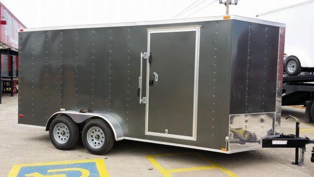 New 7 X 16 V Nose Enclosed Trailer Extra Tall Rv Door