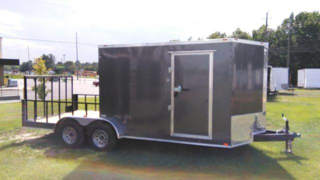 New 7x18 Hybrid Enclosed Cargo Trailer W Porch For Sale