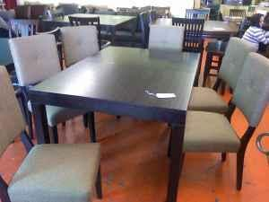 New 8 Piece Contempory Design Dining Set Furniture Liquidators Corral For Sale In