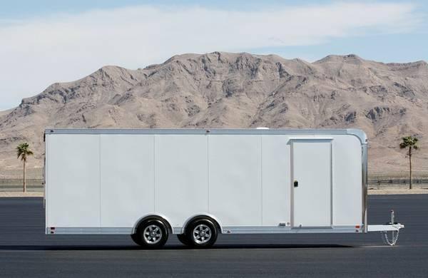New Aluminum 8 5 X 24 Enclosed Race Car Trailer Loaded