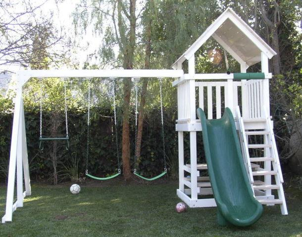 New And Used Poly Vinyl Swing Set Play Structures For