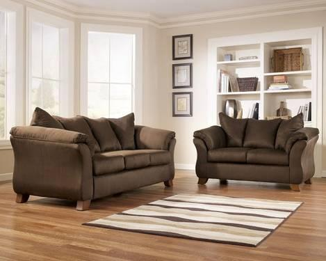 Beautiful New Ashley Furniture Microfiber Couch And Loveseat