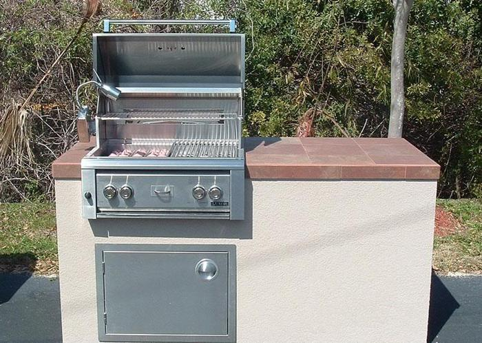 New Bbq Island With Grill You Pick The Tile Amp Stucco