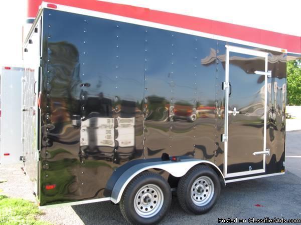 Utv Trailer Axles : New black plus v nose tandem axle enclosed cargo
