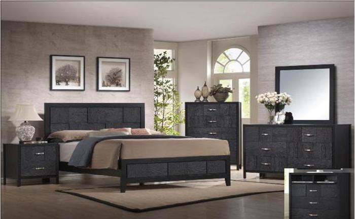 New! BLACK QUEEN LOW PROFILE BEDROOM Set - $1269