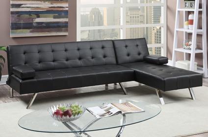 New Bonded Leather Sectional Sofa Sleeper