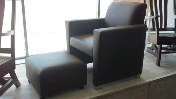 New Brown Leather Chair And Hideaway Ottomanu003eNice/Deal For Sale In  Bethlehem, North Carolina