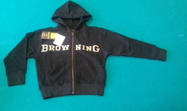 New Browning Junior Youth Full Zip Up Hoodies - for Sale in