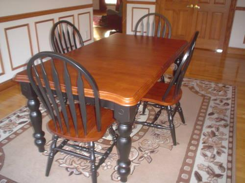 = NEW BUTCHER BLOCK DINING KITCHEN TABLE WEIGHS 130LBS
