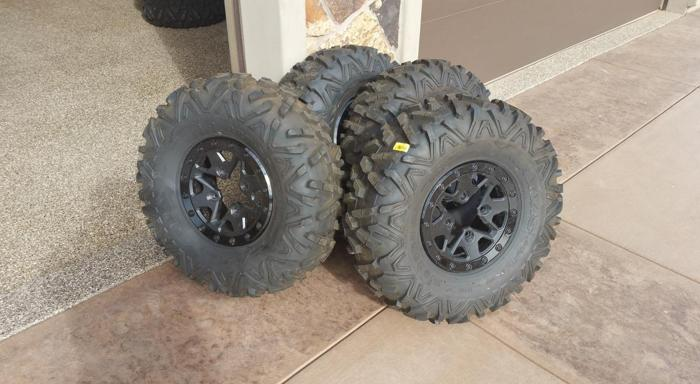 New can am tires and wheels