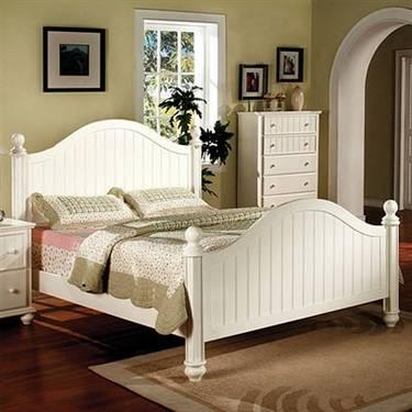 New Cape Cod Queen Bedroom Set 4pc For Sale In