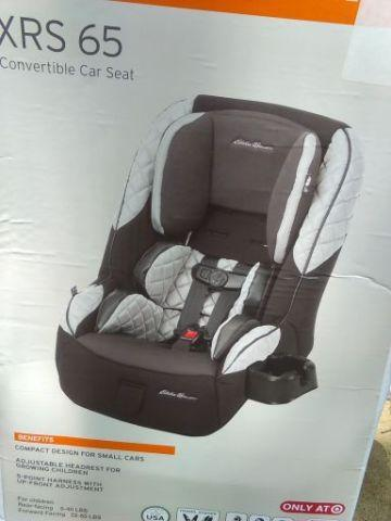 NEW Car Seat Eddie Bauer XRS 65 Convertible 5 - 65lbs