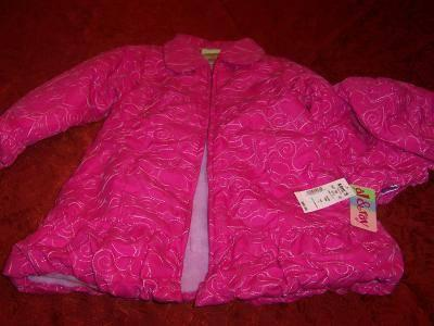 New Carters Girls Winter Faux Fur Coat, size 5-6