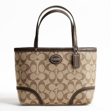 NEW COACH PEYTON TOP HANDLE TOTE SIGNATURE BAG STYLE F47367 RETAIL $1