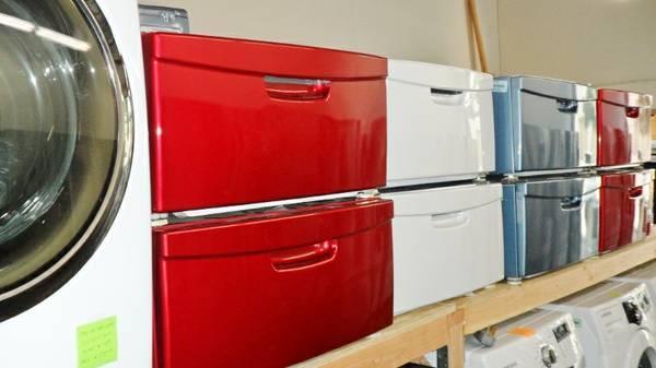 New Amp Display Samsung Washer Dryer Pedestal Sale Red White