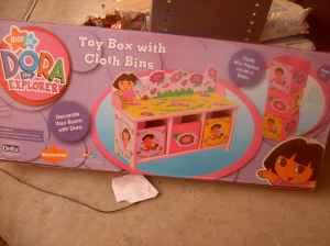 New Dora The Explorer Toy Box With Cloth Bins Citrus