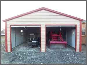 New Eagle 20 X 21 Metal Enclosed Garage Includes