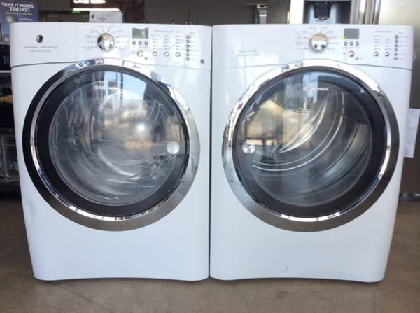 New Electrolux IQ Touch FrontLoad Washer and Dryer White for Sale