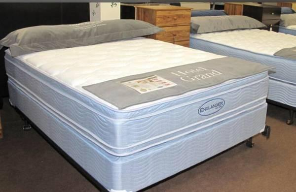 New ENGLANDER Queen Double Sided Mattress Set for Sale