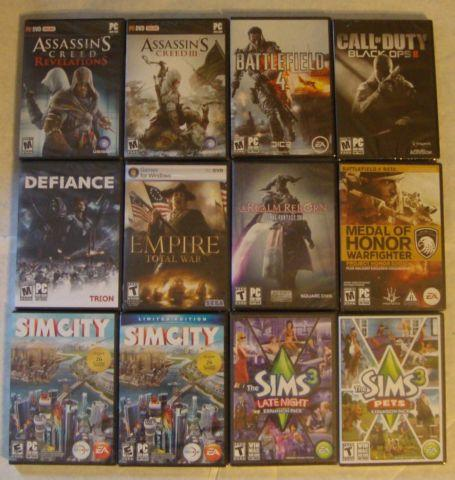 New, factory sealed PC video games