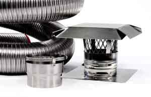 New Flex Liner Kit Stainless Steel Pipe For Wood And
