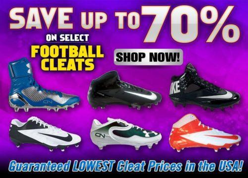 NEW Football Cleats. Large selection. Nike, adidas, Reebok, UA