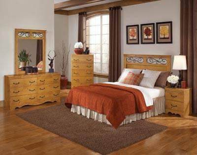 NEW FULL QUEEN 5PC PINE BEDROOM SET MADE IN THE USA For Sale In