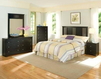 NEW FULL QUEEN BLACK 5PC BEDROOM SET MADE IN THE USA For Sale In