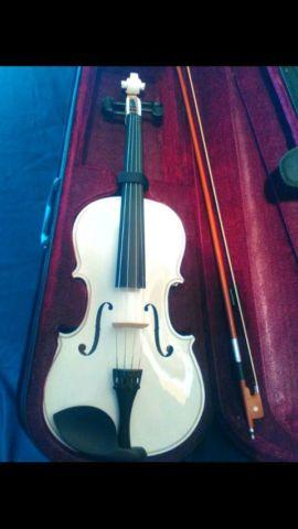 New Full Size White Viola with Case Bow and Rosin