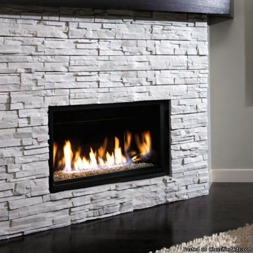 NEW GAS FIREPLACE Modern Design 36 Widescreen View For