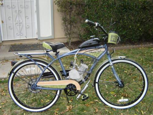 New gas powered Motorized Bicycle Panama Jack Beach Cruiser Bike