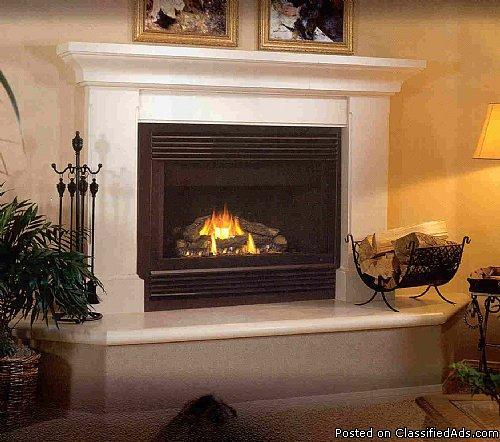 New Gas Zero Clearance Fireplace Horizontal Direct Vent