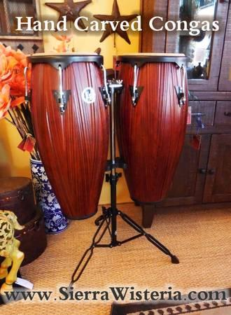 New Hand Carved Congas For Sale In Lake Almanor