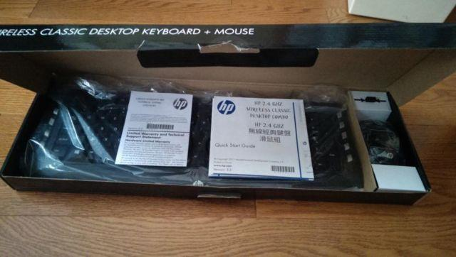 NEW HP WIRELESS KEYBOARD MOUSE BUNDLE