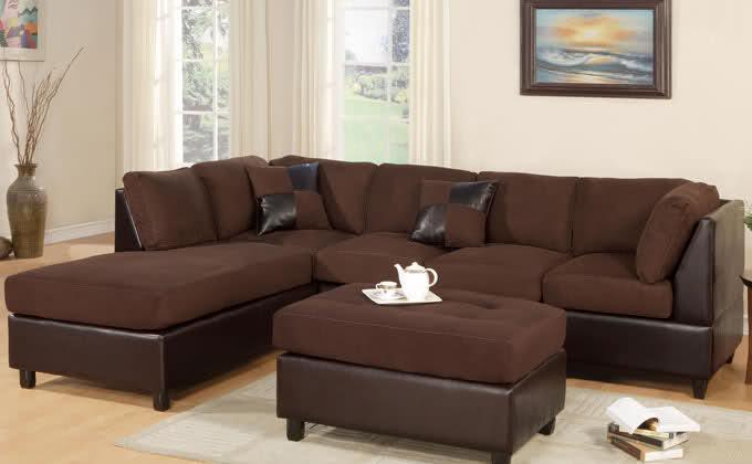 New Huge L Shape Microfiber Sectional Sofa Amp Ottoman