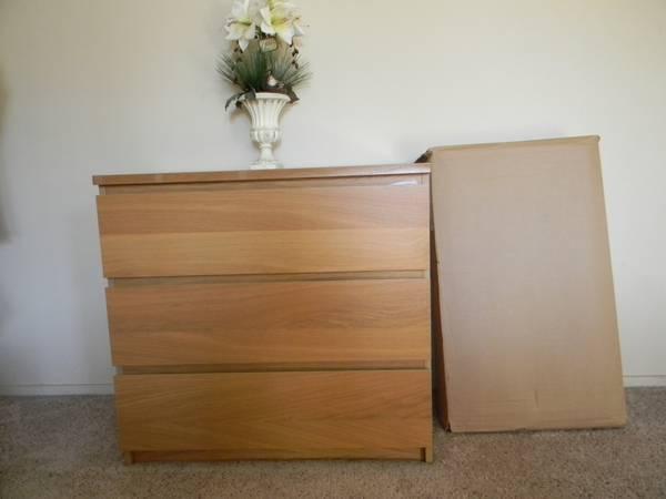 New ikea malm 3 drawer dresser for sale in palo alto for Palo alto ikea