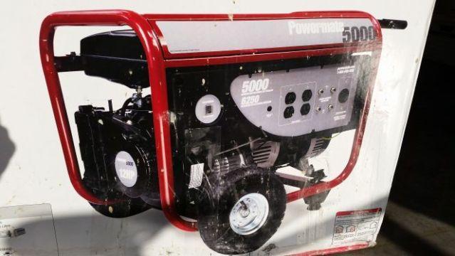 NEW in box 12 HP 5000 watt Powermate Generator 6250 Peak