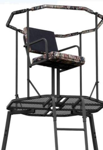 NEW In BOX! AMERISTEP 15' Tripod Tree Stand*Realtree Seat*Camo Skirt