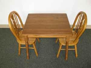 New Kids Oak Table & Chairs - $150