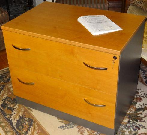 NEW Lateral File Cabinet By Bush   Natural Cherry 35